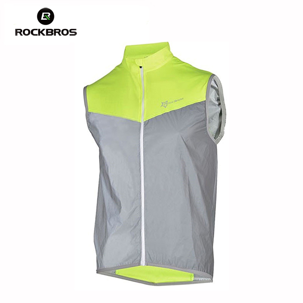ROCKBROS New Cycling Jersey  Men Ultrathin Lightweight Bicycle Vest Windcoat Breathable Vest Cycling Sportswear Roupa Clismo rockbros titanium alloy cycling bicycle seatpost 31 8mm 535mm