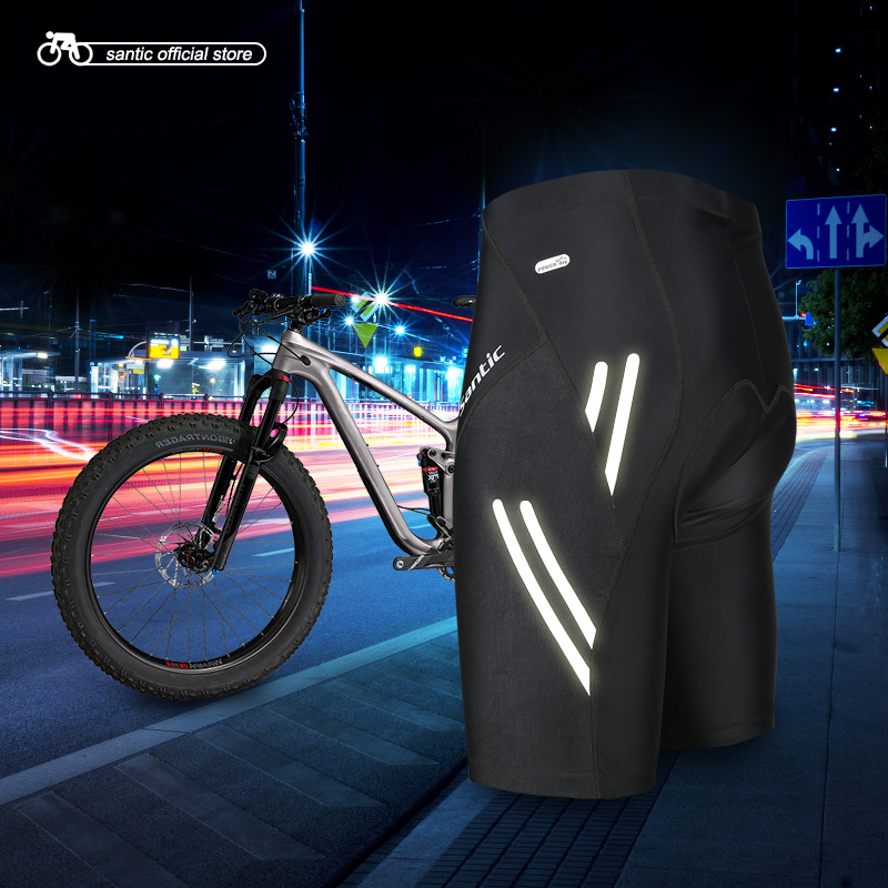 Santic Men Cycling Padded Shorts Coolmax 4D Pad Shockproof SANTIC R-FEEL Anti-pilling SANTIC AIRFREE Biking Riding Shorts KS007 цена