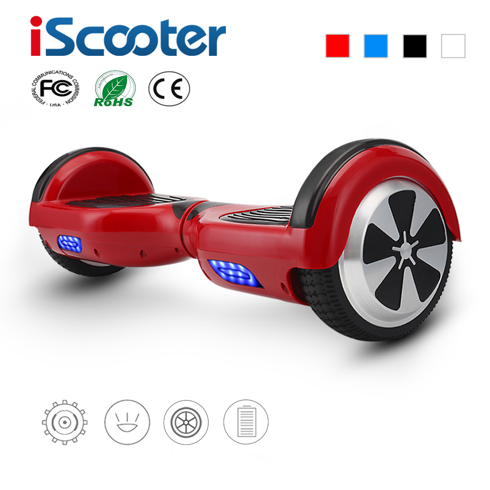 iscooter 4 colors 6 5 inch hoverboard two wheels self. Black Bedroom Furniture Sets. Home Design Ideas
