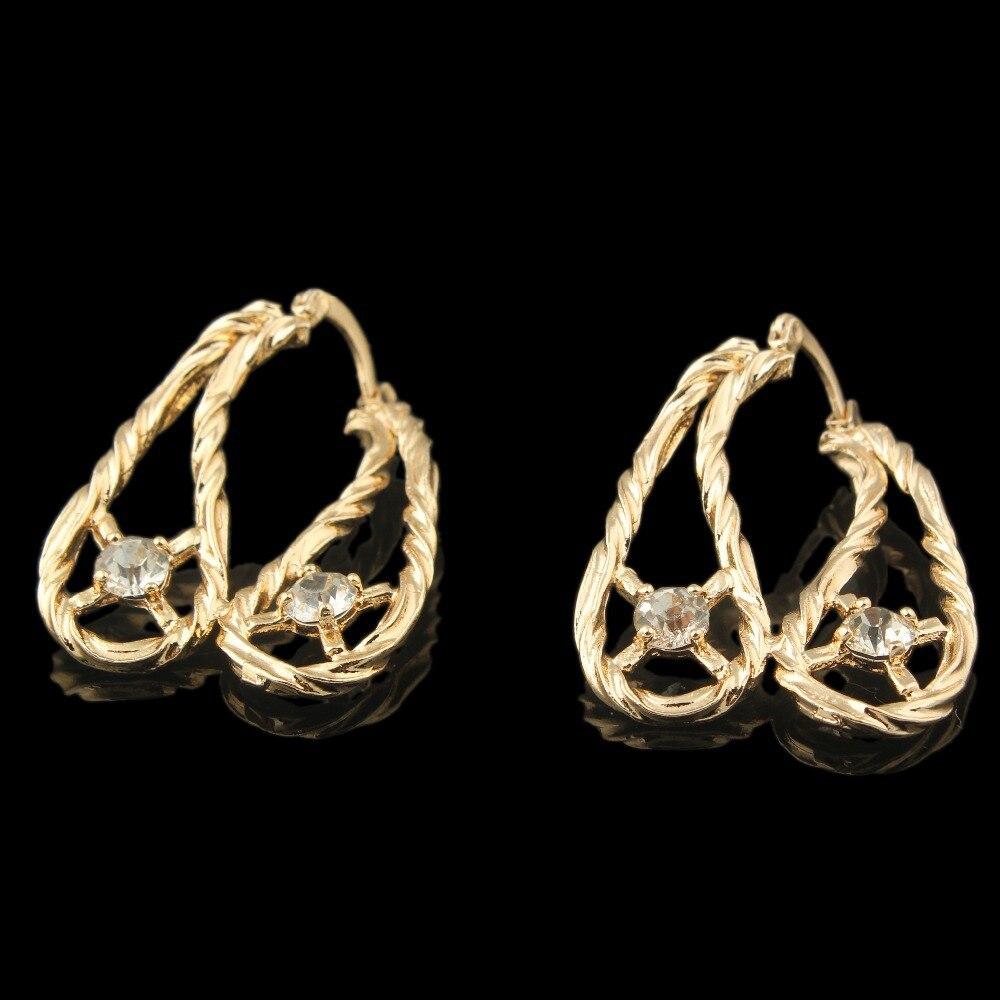 2018 mujeres de la vendimia Pendientes nueva moda oro color pendiente  encanto Pendientes regalo de joyería para las mujeres 10f1d98b51d