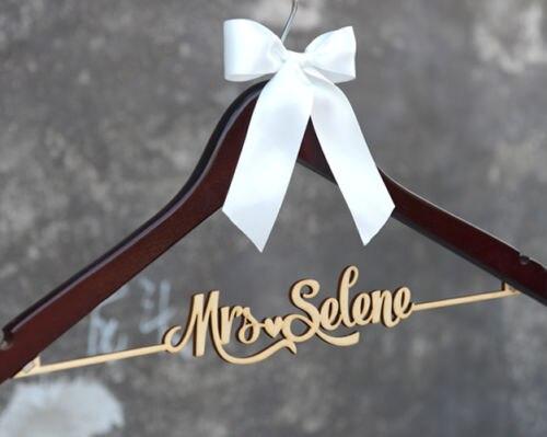 Custom Wood Bridal Last Name Hanger ,Wedding Hanger Personalized ...
