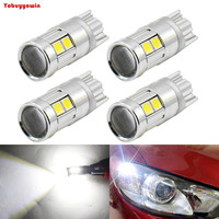 4*T10-3030-9SMD 360 Degrees White 5W w/ 8-SMD Error Free T10 W5W 168 194 2825 912 921 LED Bulbs For Parking Postion Lights