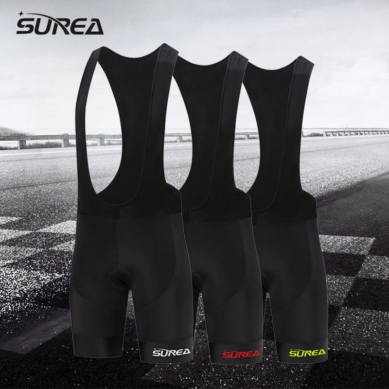SUREA New 2017 multi-color logo elastic breathable MTB bike cycling tight comfortable bicycle shorts man