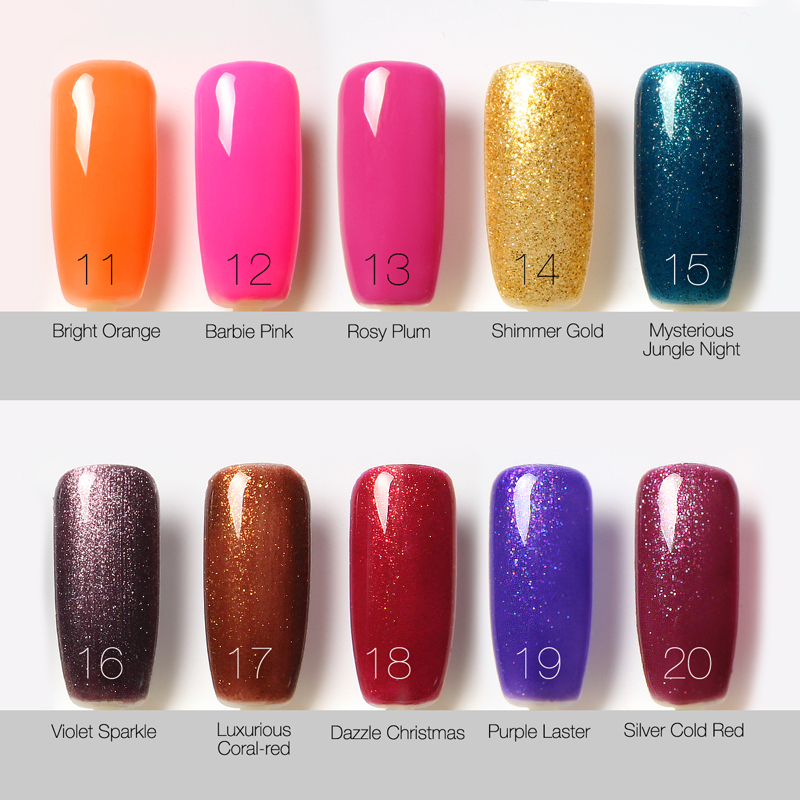 Aliexpress 80 Colors Choose Best One Bling Gel Nail Polish Geous Uv Long Lastting Up To 30 Days From Reliable