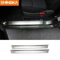 SHINEKA Best Sales Stainless Steel Door Sill Plates Entry Guard Strips For Suziki Jimny 2007