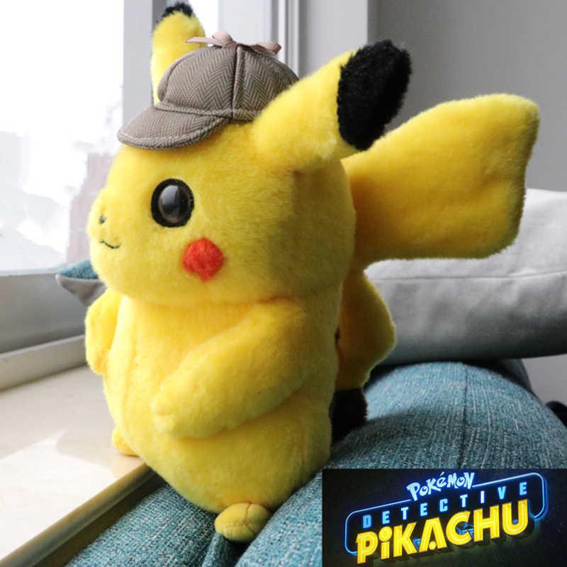 50cm Detective Pikachu Brinquedo de Pelúcia de Alta Qualidade Bonito do Anime Brinquedos de Pelúcia Pikachu Brinquedo Presente das Crianças Dos Miúdos Dos Desenhos Animados Peluche boneca de pelúcia
