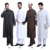 Musulmán sets (2 unids) Popular Jubbah islam Ropa hombres Abaya negro, blanco, café, gris color arabia árabe thobe