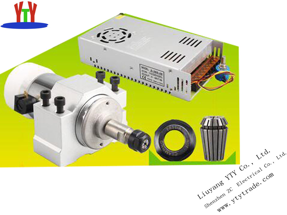 300W high-speed air-cooled, PCB electric spindle motors, DC Diy engraving machine, small engraving machine parts dc110v 500w er11 high speed brush with air cooling spindle motor with power fixed diy engraving machine spindle