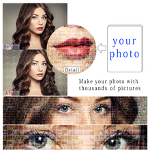 Make Your Photo With Thousands of Pictures Silk Custom Print Personalized customization Poster Picture For a Gift