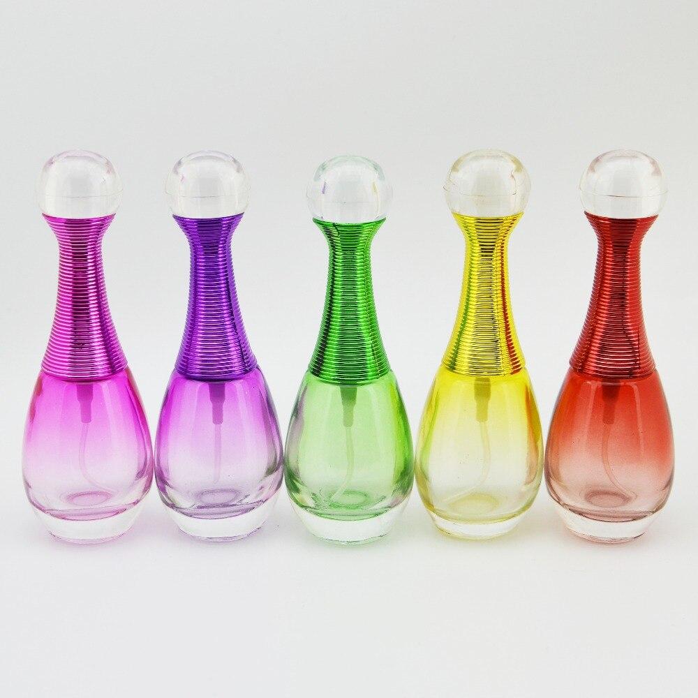 belleza ml aerosol botellas de perfume de cristal vaca pequeo perfume atomizador recargable botella contenedor