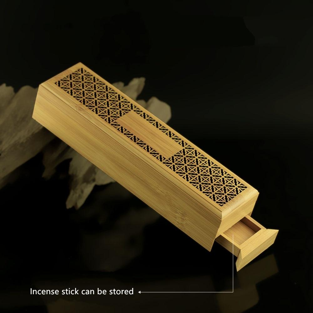 PINNY Bamboo Incense Burners Handmade Stick խնկով կրող - Տնային դեկոր - Լուսանկար 3