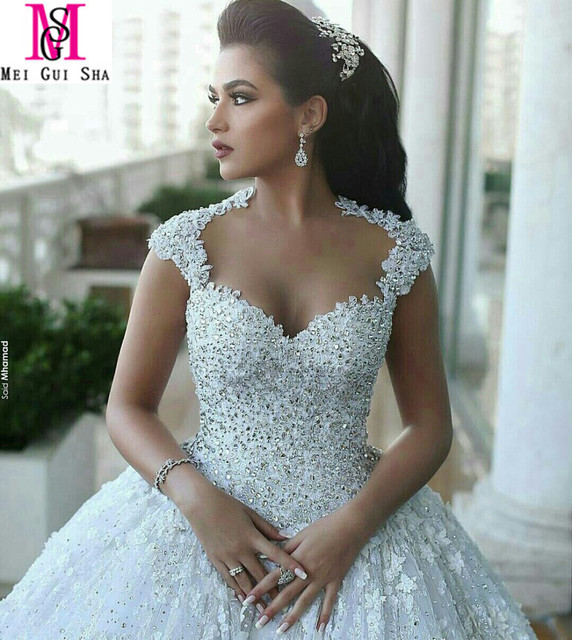 Real Luxury New Arrival 2016 MGS Ball Gown Sweetheart Capped Sleeve ...