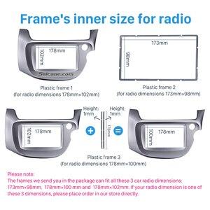 Image 4 - Seicane Zilver 2 Din Autoradio Fascia Voor 2008 2009 2010 2011 2012 2013 Honda Fit Rhd Audio Frame Stereo interface Panel Adapter