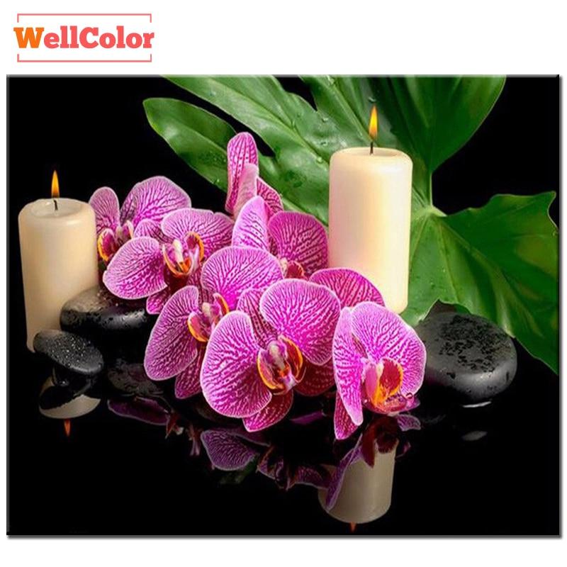 RUBOS орхидея гүлдері шам шамдары Алмаз - Өнер, қолөнер және тігін - фото 1