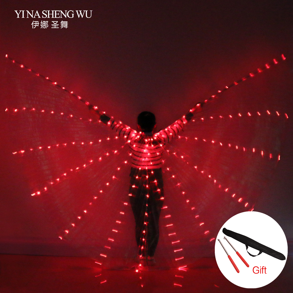 NEW women belly dance lamp props open 360 degrees LED Shining wings girls wings angle of