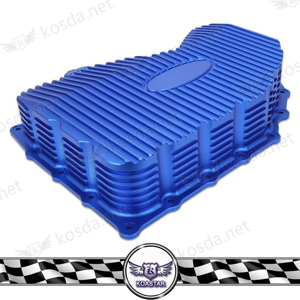 En aluminium pour EA888 huile moteur Carter Carter D'huile Pour Volkswagen pour Golf 67 GTI Audi S3 Skoda Octavia et Siège Leo voiture MQB moteur Bleu