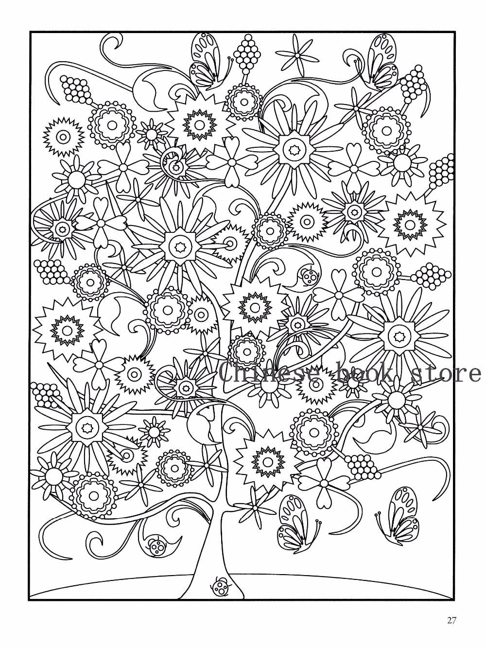 Coloring book untuk dewasa - Misterius Mandala Buku Mewarnai Untuk Dewasa Anak Desain Menghilangkan Stres Secret Garden Art Lukisan Mewarnai Buku Baru Di Buku Dari Kantor Perlengkapan