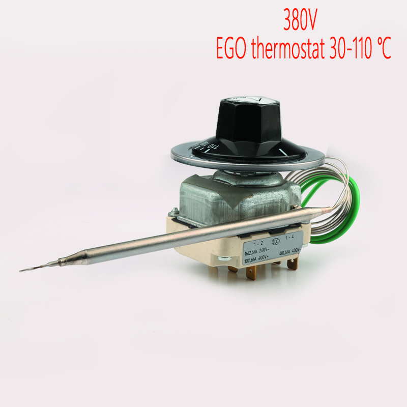 55.34022.170 EGO capillary thermostat 30-110 centigrade ,380V over temperature protective adjustable tempering control switch 250v 20a 3 pin terminals temperature control switch capillary thermostat part