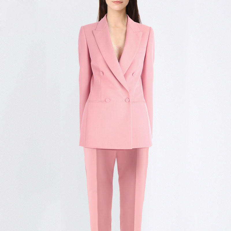 Professional Women Pants Suit Fashion Business Formal Slim Long Sleeve Blazer With Trousers Office Ladies Plus Size Work Wear