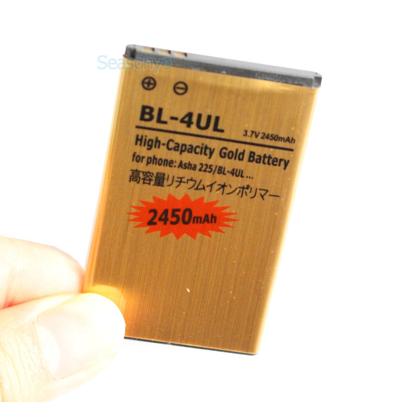 Seasonye 5pcs/lot 2450mAh <font><b>BL</b></font>-4UL / <font><b>BL</b></font> 4UL / BL4UL Gold Replacement Li-ion Battery For Nokia Asha <font><b>225</b></font> Asha225 + Tracking Code image