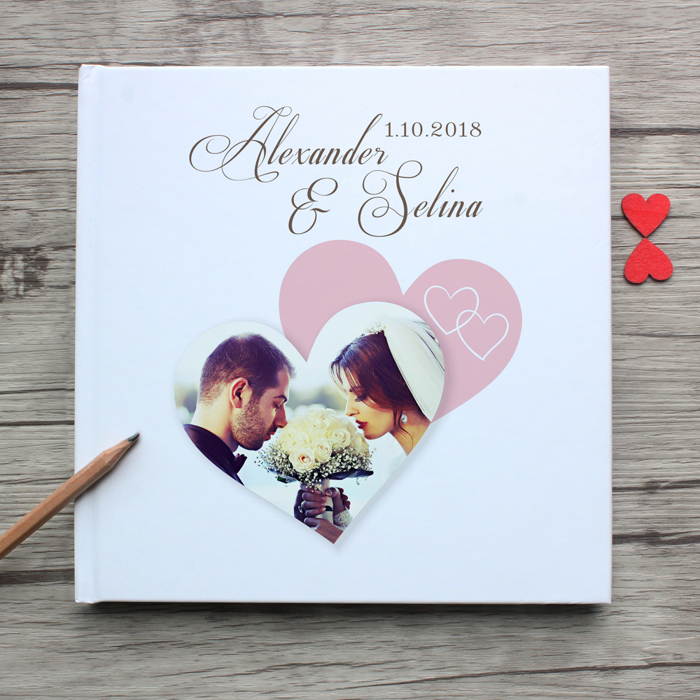 Package1White Wedding Guest Book Forever love white
