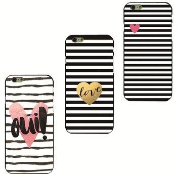 Черно-белая линия в случае любовь Черный Жесткий Shell для Apple iphone 4 4S 5 5S SE 5c 6 6 S 6 ПЛЮС 7 7 ПЛЮС