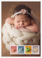 Newborn Chunky Knit Bowl Cocoon Egg shell pocket Newborn Photography Nest Pod Knit Photography Prop Wool Basket