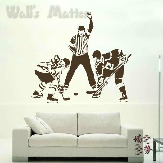 Sports Hockey Ball Wall Stickers Decoration Home Decal Decor Fashion Cute  Bedroom Living Waterproof Sofa Family ... Part 21