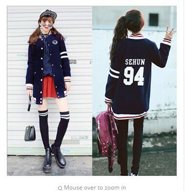 13 Capucha 3 Capa 6 Shirts Chaqueta 9 Baseball 4 Escudo Camiseta 12 11 5 7 Uniforme 0 1 Kai Del 8 2 Kris Kpop Exo Con Lobo Ropa Sweat 5Rtxwqwa