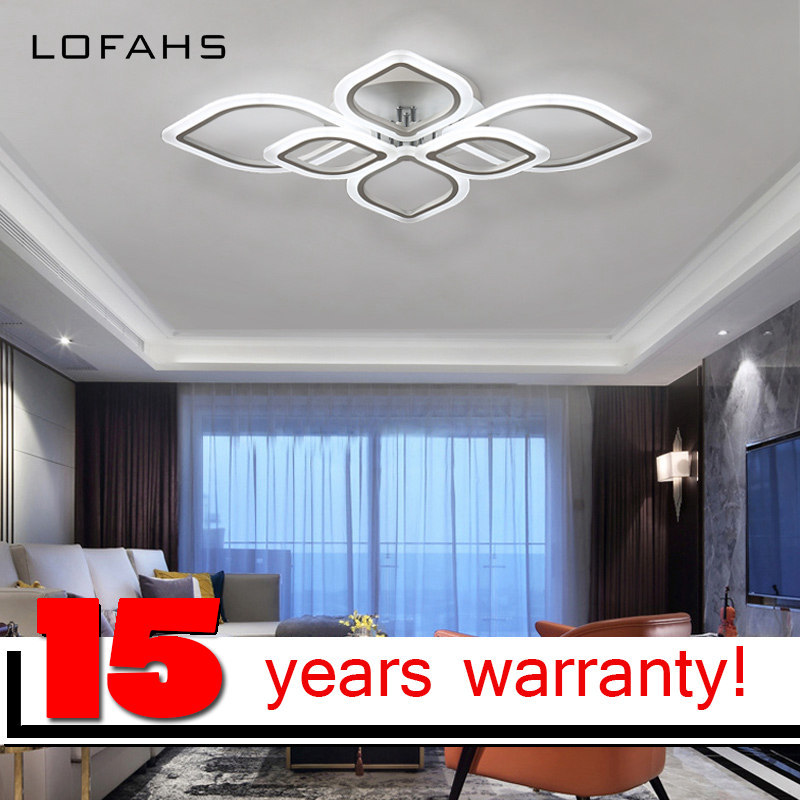LOFAHS Modern acrylic LED ceiling light  Leaves brooches ceiling lamp for living dining bed room luster avize remote dimmable
