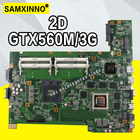G74SX Laptop motherboard 12 Memory GTX560M/3GB 2D 4 slots for ASUS G74SX G74S Test mainboard G74SX motherboard test 100% ok