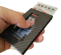 For Car decoration accessories Carbon fiber card case Card bag