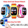 Q90 GPS Phone Positioning Fashion Children Watch 1 22Inch Color Touch Screen WIFI SOS SmartWatch Baby