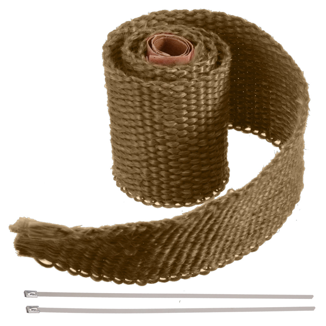 Image 2 - 50CM 1 Roll Car Motorcycle Exhaust Thermal Exhaust Tape Header Heat Wrap Resistant For Motorcycle Car Accessories-in Exhaust & Exhaust Systems from Automobiles & Motorcycles