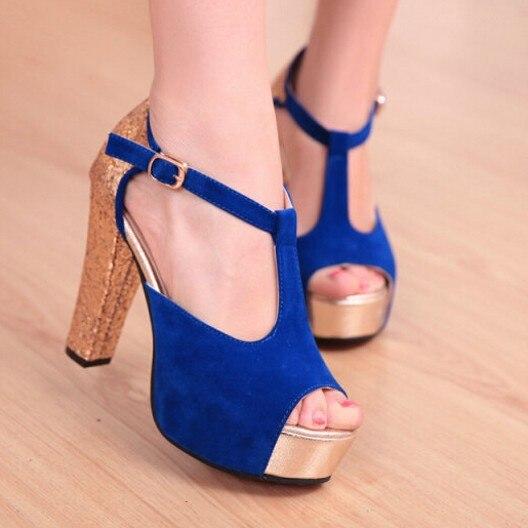 Dark Blue Pumps Womens Gold Heel Suede