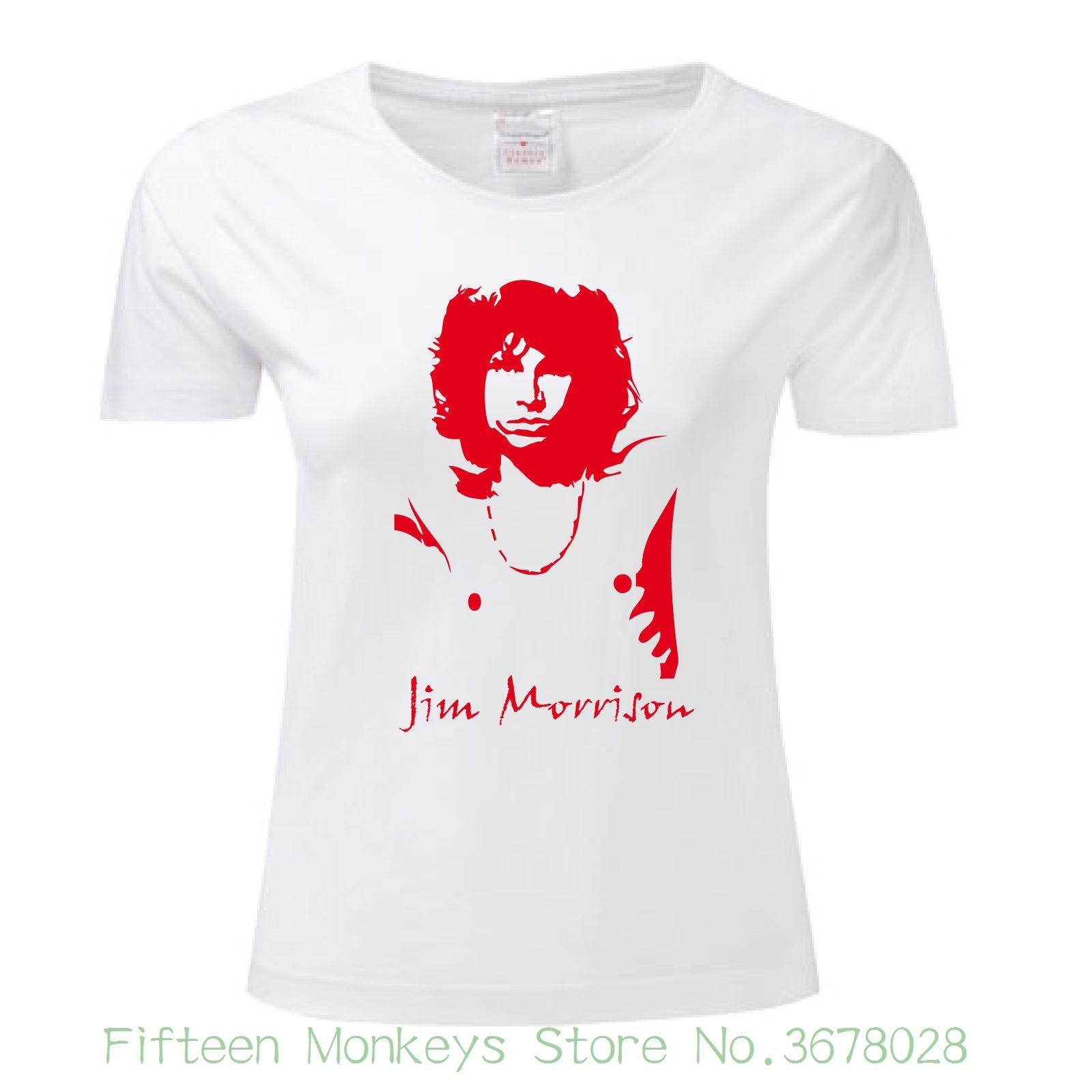 T-SHIRT MAGLIETTA UOMO DONNA JIM MORRISON THE DOORS ROCK MUSIC MUSICA COLORS