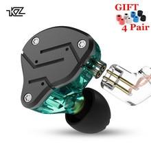 KZ ZSN 1DD + 1BA гибридные наушники-вкладыши сменный кабель гарнитура HIFI четырехъядерный привод музыкальные наушники ZST ES4 ZSN PRO V80 ZS10