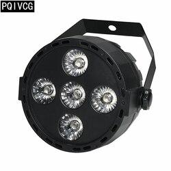 5x12 W led par luces mini led luz rgbw 4in1 dmx par plana luz led profesión luces de discoteca nuevo %