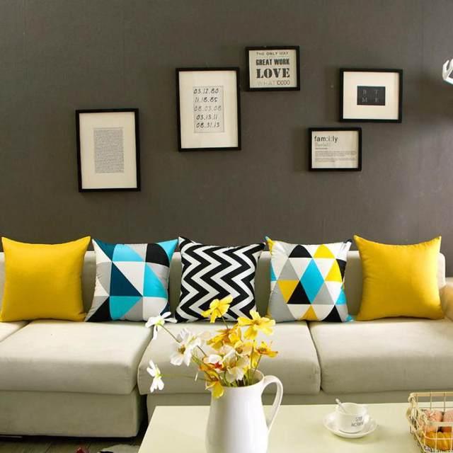 Nordic Simply Geometric Pillow Home Decor Black And White Striped Diamond Pattern Office Chair Gel Cushion Almofadas Para Sofa
