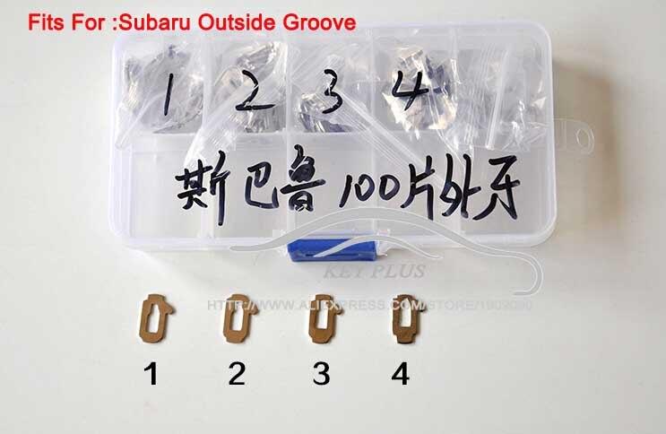 Top Qualité Voiture Verrouillage Reed Pour Subaru Reed Plaque De Verrouillage Serrure De Voiture Réparation Accessoires + 100 PCS + Cadeau En Plastique boîte