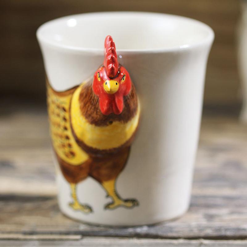 CREATIVE 3D Rooster Mug| Moon Discount