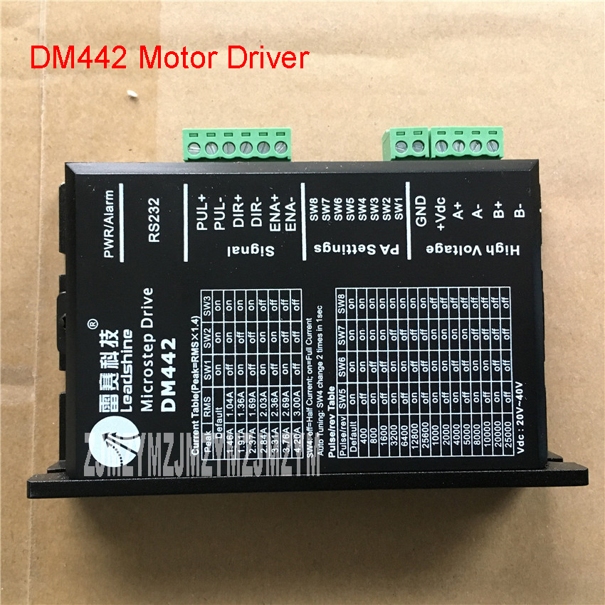 DM442 Step Driver New DSP Digital 57 Stepper Motor Driver Kit 18-36VDC / 0.5-2.2A Motor Driver Subdivision range 200-51200PPR new original yka2811ma step motor driver