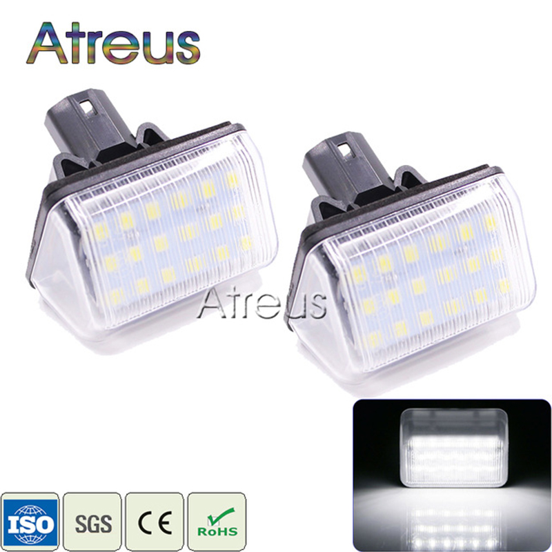 Atreus Car <font><b>LED</b></font> For <font><b>Mazda</b></font> 6 03- <font><b>CX</b></font>-<font><b>5</b></font> 14- <font><b>CX</b></font>-7 07- Accessories No error License Plate Lights 12V White SMD Number Plate <font><b>Lamp</b></font> Bulb image