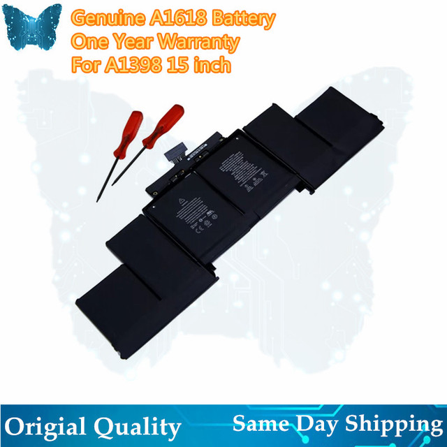 """GIAUSA New A1618 Battery For APPLE MACBOOK PRO 15"""" A1398 2015 YEAER 99.5wh"""