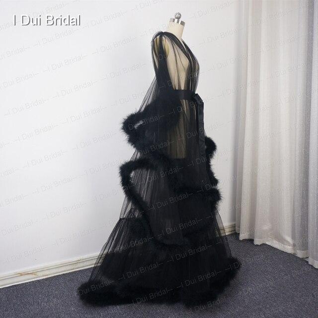 Bordowy pióropusz szata Boudoir Tulle Illusion suknia ślubna długi prezent dla panny młodej impreza homecoming Dress