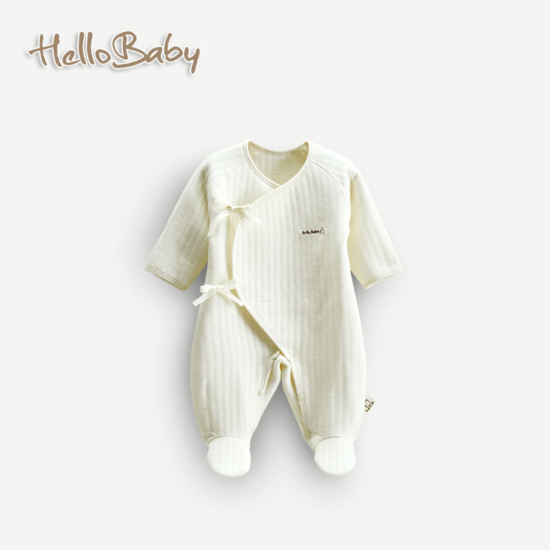 Autumn and winter to keep warm and comfortable cotton baby Romper 0-9 months, your baby organic cotton coveralls europe and the united states long sleeve hooded keep out the cold winter to keep warm and comfortable cotton coat