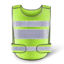 Yellow Reflective Safety Clothing Vest Workplace Road Working Motorcycle Cycling Sports Outdoor Print LOGO #001