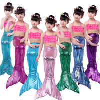 Fancy Mermaid tails mermaid swimming tails for Kids Girls Summer Beach Wear Swimsuits Bikini Three piece Hot Spring Swimsuit