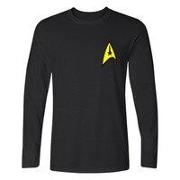 New Fashion Star Trek T Shirt Men Hip Hop Tees Star Trek Long Sleeve T Shirts