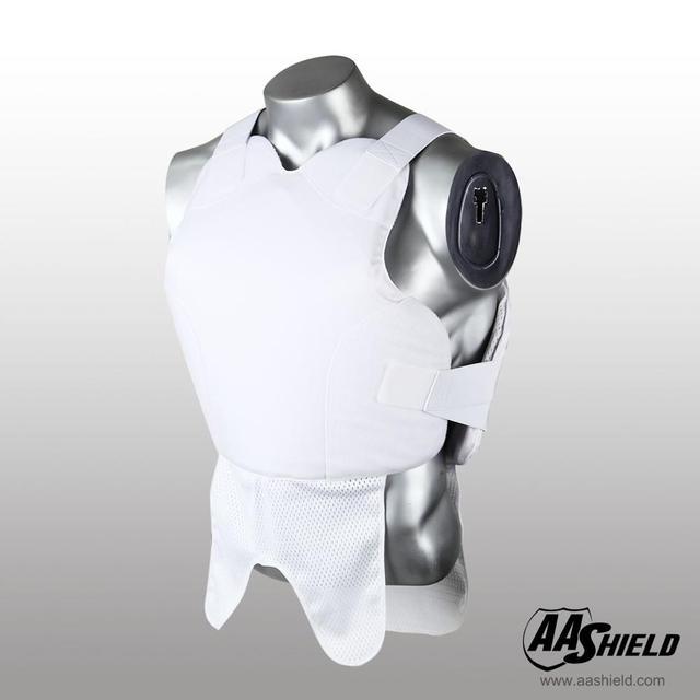 AA Shield Bullet Proof Vest Body Armor Suit Comfortable Armour Aramid Core Carrier White  M/L